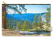 Yosemite Valley Mountainside From Sentinel Dome Trail In Yosemite Np-ca Carry-all Pouch