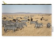 Zebra Migration Maasai Mara Kenya Carry-all Pouch