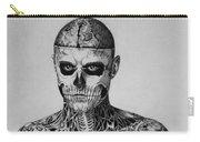 Zombie Boy Rick Genest Carry-all Pouch by Carlos Velasquez Art