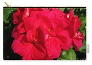 Zonal Geranium Named Candy Cherry Carry-all Pouch