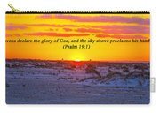 2014 03 12 02 A Psalm 19 1 Carry-all Pouch