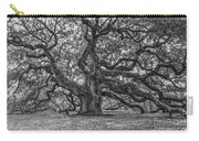 Angel Oak Tree In Black And White Carry-all Pouch