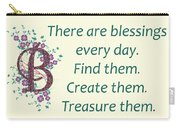 223- Blessings Carry-all Pouch