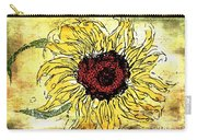 24 Kt Sunflower - Barbara Chichester Carry-all Pouch