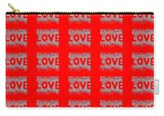 25 Affirmations Of Love In Red Carry-all Pouch
