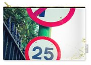 25 Mph Road Sign Carry-all Pouch