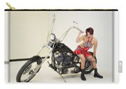 Models And Motorcycles Carry-all Pouch
