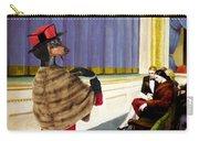 Dachshund Art Canvas Print Carry-all Pouch
