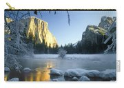 2m6538-yosemite Valley In Winter Carry-all Pouch