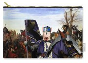 Bull Terrier Art Canvas Print Carry-all Pouch