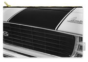 1969 Chevrolet Camaro Rs-ss Indy Pace Car Replica Grille - Hood Emblems Carry-all Pouch by Jill Reger