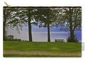 A Bench And Path On The Shore Of Loch Ness In Scotland Carry-all Pouch
