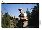 A Fly-fisherman In The Truckee River Carry-all Pouch