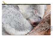 Adorable Koala Bear Taking A Nap Sleeping On A Tree Carry-all Pouch