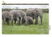 African Elephants Grazing  Kenya Carry-all Pouch