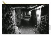 A Tunnel In The Catacombs Of Paris France Carry-all Pouch