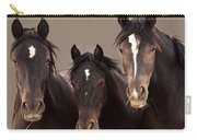 3 Amigos Sepia Wild Mustang Carry-all Pouch