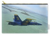 An Fa-18 Hornet Of The Blue Angels Carry-all Pouch