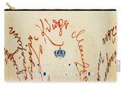 Archbishop Makarios  Autograph Carry-all Pouch