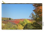 Autumn Colors In Maine Blueberry Field And Forest Carry-all Pouch