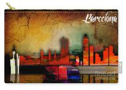 Barcelona Spain Skyline Watercolor Carry-all Pouch