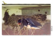 Barn Swallows Constructing Their Nest Carry-all Pouch by J McCombie