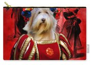 Bearded Collie Art Canvas Print Carry-all Pouch