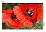 Beautiful Poppies 2 Carry-all Pouch by Carol Lynch