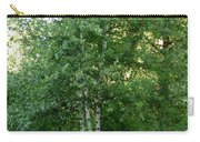 3 Birch Trees On A Hill Carry-all Pouch