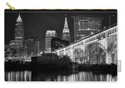 Black And White Cleveland Iconic Scene Carry-all Pouch
