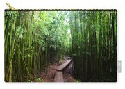 Boardwalk Passing Through Bamboo Trees Carry-all Pouch