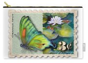 3 Cent Butterfly Stamp Carry-all Pouch