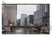 Chicago Skyline And Streets Carry-all Pouch