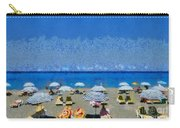 Beach At The City Of Rhodes Carry-all Pouch