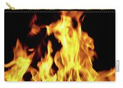 Close-up Of Fire Flames Carry-all Pouch