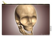 Conceptual Image Of Human Skull Carry-all Pouch by Stocktrek Images