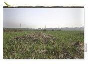Cut And Dried Grass Along With Growing Grass Carry-all Pouch
