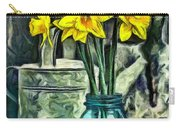 Daffodils Carry-all Pouch by Edward Fielding