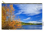 Fall Forest And Lake Carry-all Pouch by Elena Elisseeva