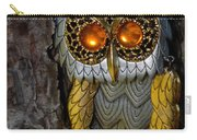 Faux Owl With Golden Eyes Carry-all Pouch