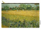 Field With Flowers Near Arles Carry-all Pouch
