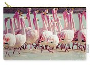 Flamingos On Lake In Andes Carry-all Pouch