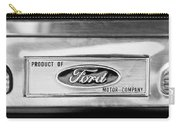 Powered By Ford Emblem -0307bw Carry-all Pouch