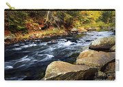 Forest River In The Fall Carry-all Pouch
