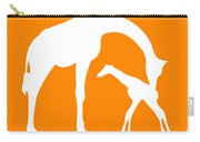 Giraffe In Orange And White Carry-all Pouch