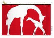 Giraffe In Red And White Carry-all Pouch