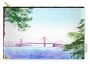 Golden Gate Bridge San Francisco Carry-all Pouch by Irina Sztukowski
