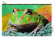 Green Fantasy Frogpacman Frog Carry-all Pouch