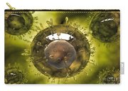 Group Of H5n1 Virus With Glassy View Carry-all Pouch