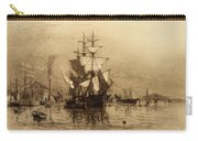 Historic Seaport Schooner Carry-all Pouch by John Stephens